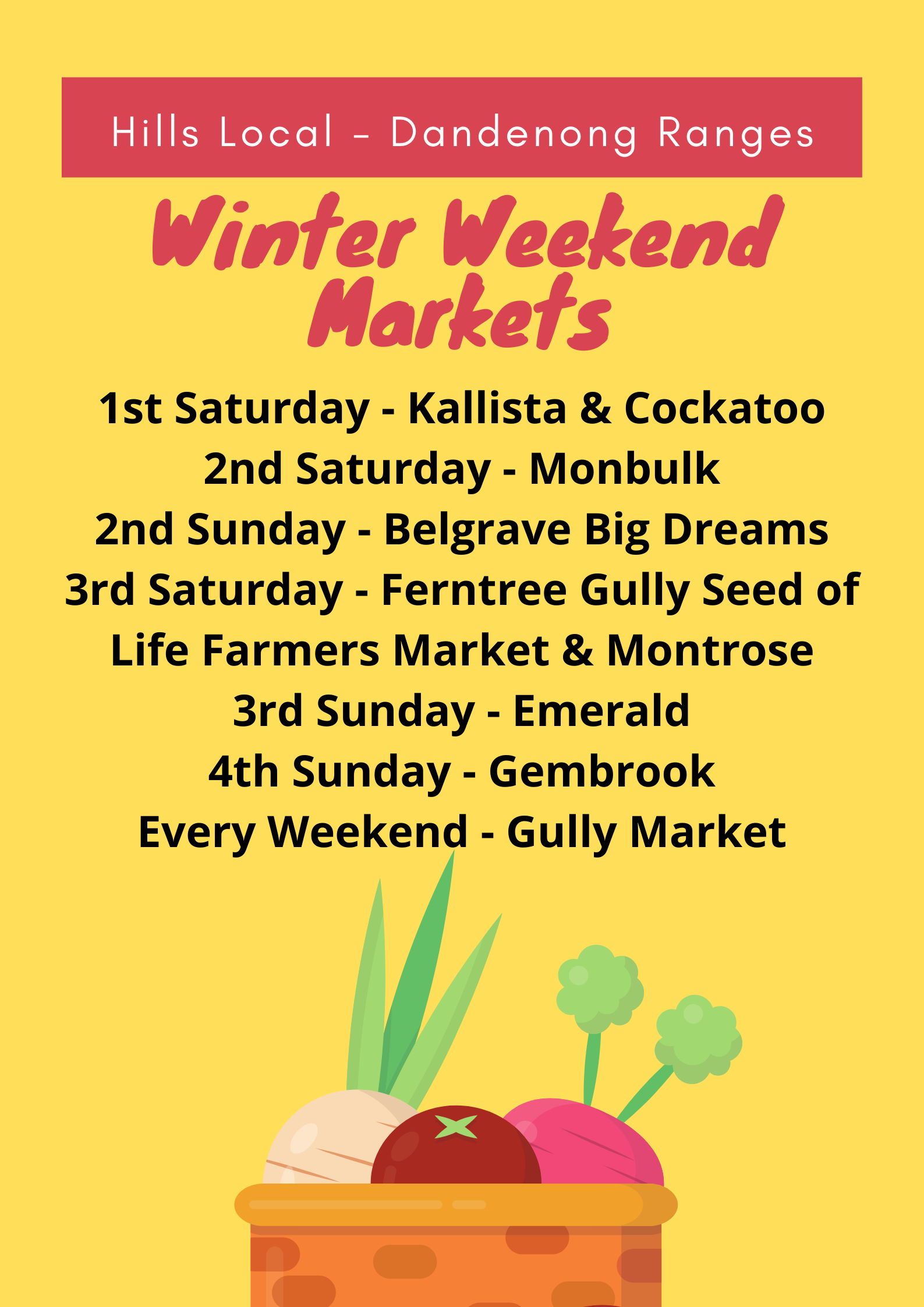 Winter markets dandenong ranges
